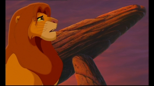 Who pushed Simba off the cliff in his dream in 'The Lion King 2'?