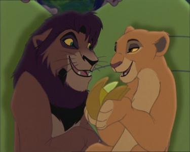 Who chased Kiara & Kovu (adults)?