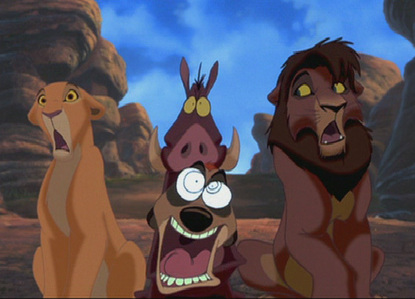 Who chased Kiara & Kovu (adults)?