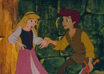 Who does the voices of this couple? (Taran and Eilonwy)