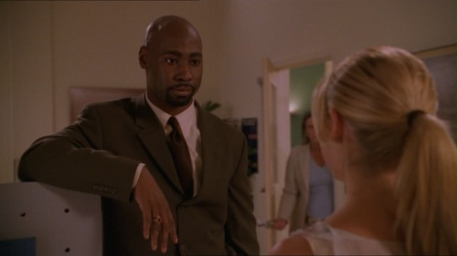 On Buffy's first دن on her job as a Social Worker: What was Buffy's main concerned on the job when she asked Wood about it?