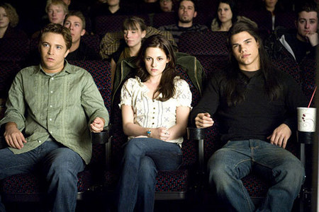 What did Jacob say to Bella at the theater?