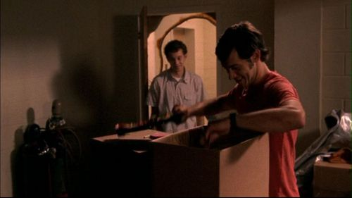 What does Max give Rusty for almost getting into his room during the Senior Stockades?