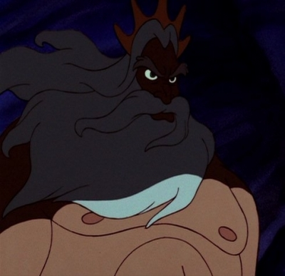 "What color ""originally"" was King Triton's hair before it aged white?"