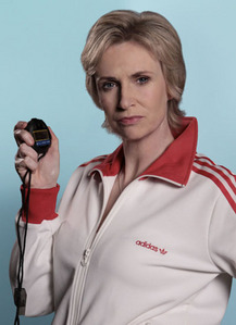 Jane Lynch, who plays evil cheerleading coach Sue Sylvester, was a glee girl herself in high school.