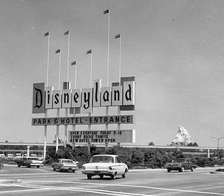How many months after the release of Lady and the Tramp was Disneyland opened?