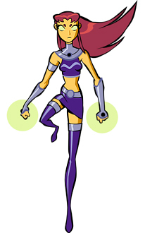 What is the name of Starfires betrothed on Tameran?