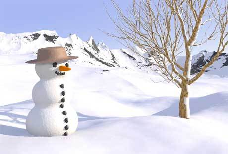 """In the meadow we can build a snowman and pretend that he is ............?"
