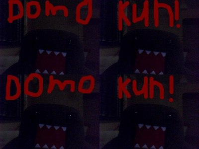 Domo kun what when he is nervous?