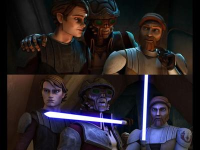 What is the name of the Weequay pirate leader who manages to imprison Count Dooku, Obi-Wan, and Anakin?