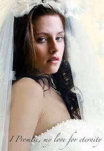 For the wedding, Alice helps Bella with everything (her dress, make-up and doing her hair)!