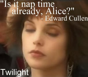 Edward and Alice have a sort of mental conversation.