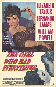 """Elizabeth Taylor : In """"The Girl Who Had Everything"""" she played ?"""