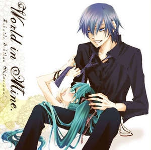 Who wrote the lyrics for the song, ANOTHER:World is mine by KAITO?
