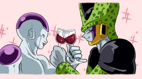 Why Cell and Frieza are together in db(gt)??