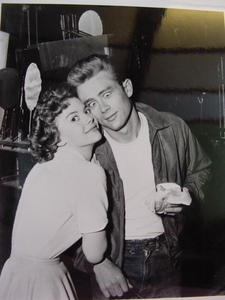 Who is in the photo with James Dean?