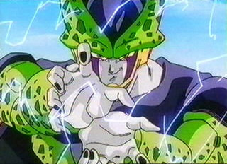 Who tryied to protect android #18 from Cell?
