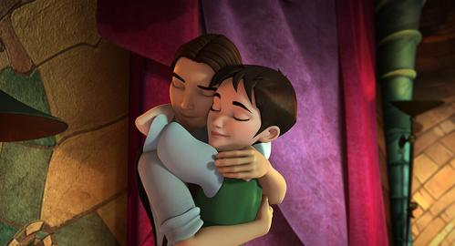 Which real life couple bintang as the voices of Ella & Rick in the first film?
