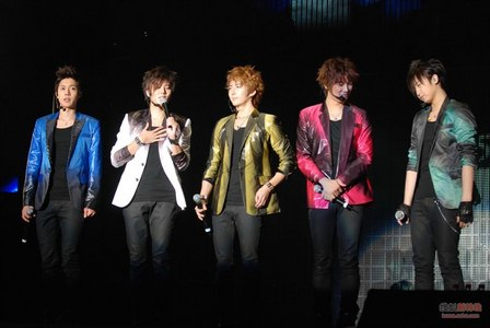Where was SS501's Persona 1st Asia Tour Concert in Shanghai held at?