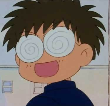 Who was Umino in cinta with, at the very beginning of the Sailor Moon anime series?