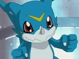 Who voiced Veemon in the English dub of Adventure 02?