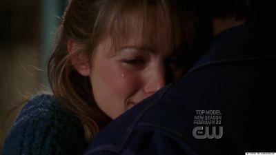She's hugging Clark. T/F?