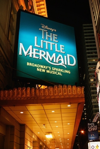 The Little Mermaid on Broadway succeeded what Disney Play at the Lunt Fontanne Theatre?