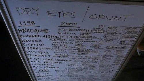 Match the whiteboard to the correct episode. #17