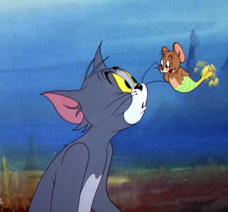 "T/F : This cartoon is named ""The Cat and the Mermouse"" ?"