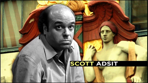 What episode is Scott Adsit's first intro clip from?