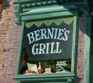 In which movie would 你 find Bernies Grill ?