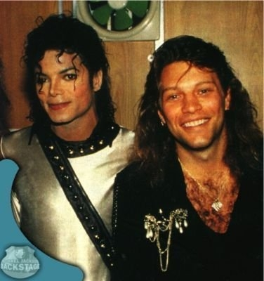 Who is with Michael on this picture ?