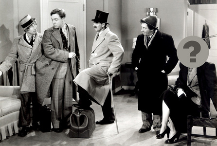 Which funny lady guest-starred in the 1938 Marx Brothers film, Room Service ?