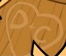 In what episode of Total Drama Island did Duncan carve D+C inside a heart on the back of a wooden statue of Courtney's head?