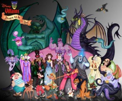 "Which villain says: ""Insolent coward!""? (Brilliant picture of Disney Villains by madameLEOTA at deviantART)"