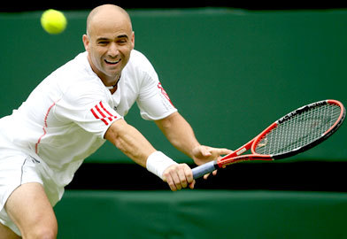 Andre Agassi : How many Grand Slam tournament won ?