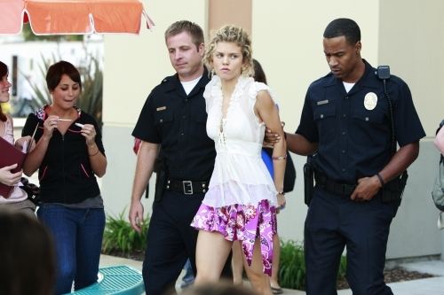 why does get arrested the of 90210 trivia