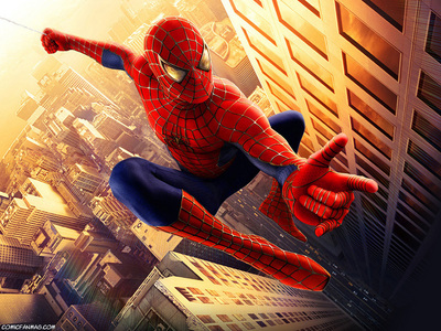 There is a reference to another superhero in 'Spider-Man'. Which superhero was that?