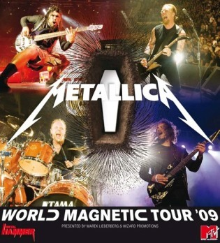 """""""World Magnetic Tour"""" - """"Seek and Destroy"""", """"Master of Puppets"""", """"Nothing Else Matter"""", """"Enter Sandman"""" were played the most with another one song, Which one ?"""