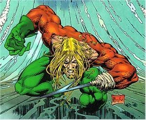 Which fishy villain was responsible for the loss of Aquaman's hand?