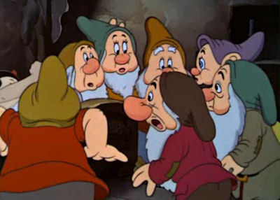 Which of the dwarfs berkata this - 'She's mighty mean! '