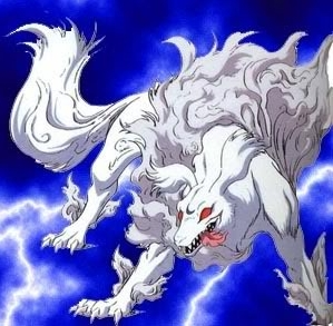 How many times does Sesshomaru transform into his true Dog Demon form in both the Manga and in the Anime?
