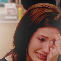 Brooke is crying because?