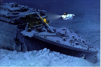 Trivia:Production of the film began in * when Cameron shot footage of the real wreck of the Titanic.