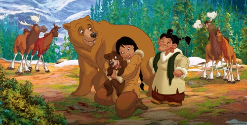 What is the name of Kenai's childhood friend that eventually falls in love with Kenai and becomes a bear in Brother Bear 2?