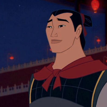 What happened to Shang when Mushu and the Cri-kee shot a cannon in the sky, giving away their position to the Hun Army?
