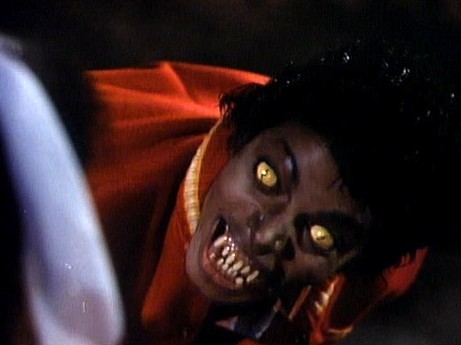 "Thriller - The girl : ""Are آپ alright ?"". Michael : _______ ?"