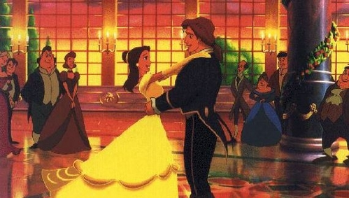 The dance between Belle and her Prince in the finale is actually reused Animation of the dance between...