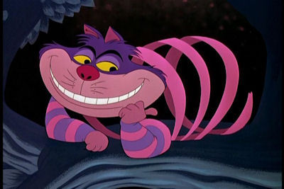 The Cheshire Cat shows Alice a shortcut to the Queen of Hearts' castle. What did she have to go through?