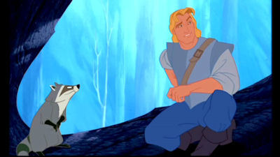 What food that John Smith has in his pack is Meeko fond of?